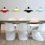 ph lampor över köksbord